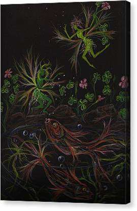 Canvas Print featuring the drawing Pisces by Dawn Fairies