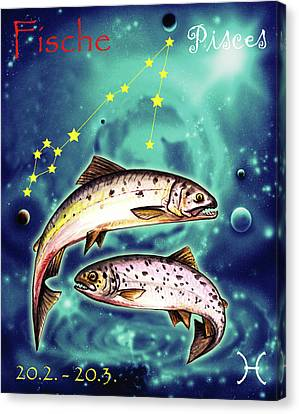 Pisces In The Sky Canvas Print by Johannes Margreiter