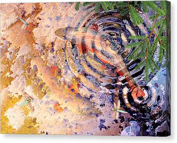 Canvas Print featuring the painting Pisces by Peter J Sucy