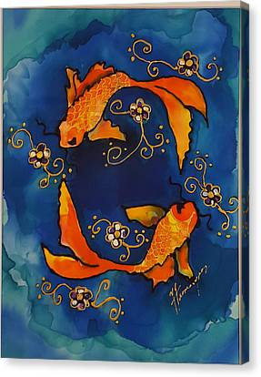Pisces Canvas Print by Yvonne Feavearyear