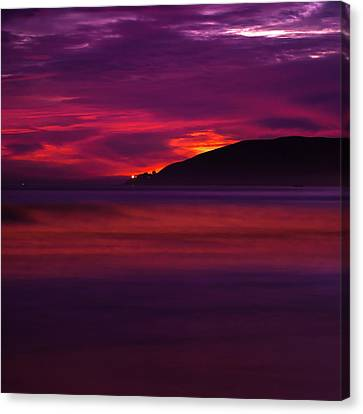 Canvas Print featuring the photograph Pismo Beach On Fire - California - Usa by Gregory Ballos