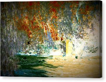 Pissarro's Garden Canvas Print by Nature Macabre Photography