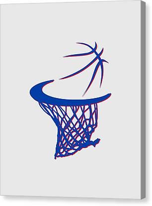 Pistons Basketball Hoop Canvas Print