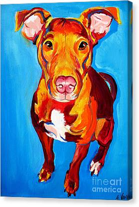 Pit Bull - Chino Canvas Print by Alicia VanNoy Call