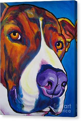 Pit Bull - Eric Canvas Print by Alicia VanNoy Call