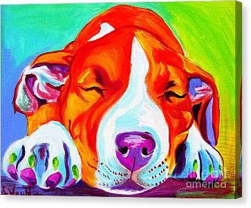 Pit Bull - Naptime Canvas Print
