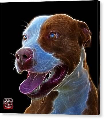 Pit Bull Fractal Pop Art - 7773 - F - Bb Canvas Print by James Ahn