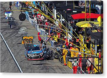 Pit Stop Canvas Print by Juergen Roth
