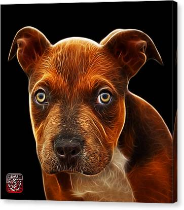 Pitbull Puppy Pop Art - 7085 Bb Canvas Print by James Ahn
