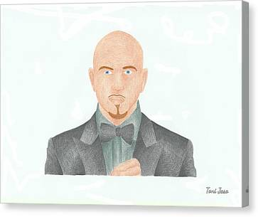 Pitbull Canvas Print by Toni Jaso