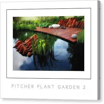 Pitcher Plant Garden 2 Poster Canvas Print by Mike Nellums