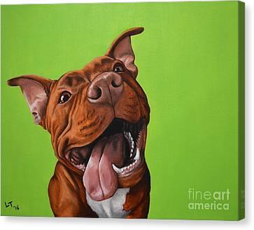 Pittie Smile Canvas Print