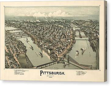Pittsburgh 1902 Canvas Print by Mountain Dreams