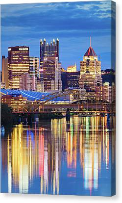 Pittsburgh 2 Canvas Print by Emmanuel Panagiotakis