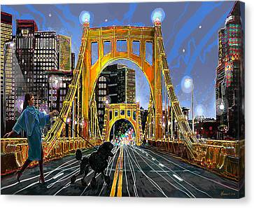 Pittsburgh Chic Canvas Print by Frank Harris