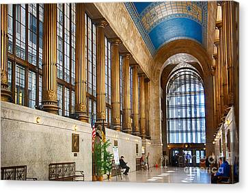 Pittsburgh City County Building Main Hall Canvas Print by Amy Cicconi