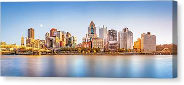 Clemente Canvas Print - Pittsburgh Downtown Skyline by Mihai Andritoiu
