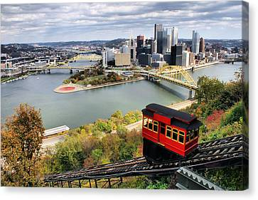 Canvas Print featuring the photograph Pittsburgh From Incline by Michelle Joseph-Long