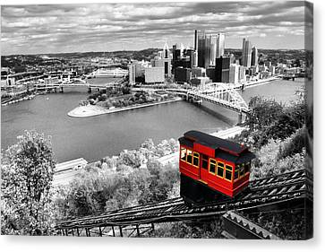 Pittsburgh From The Incline Canvas Print by Michelle Joseph-Long