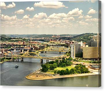 Pittsburgh Hdr Canvas Print by Arthur Herold Jr