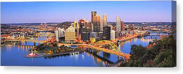 Steelers Canvas Print - Pittsburgh Pano 22 by Emmanuel Panagiotakis