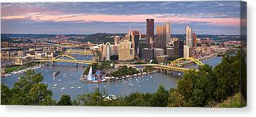 Pittsburgh Pano 23 Canvas Print by Emmanuel Panagiotakis