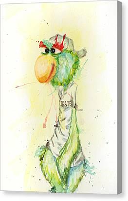 Pittsburgh Parrot Canvas Print by Tess Kamban