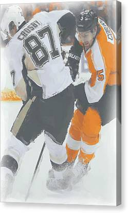 Pittsburgh Penguins Sidney Crosby 2 Canvas Print by Joe Hamilton