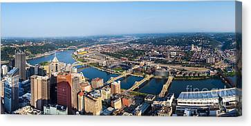Pittsburgh Pennsylvania Cityscape Panoramic Canvas Print by Amy Cicconi