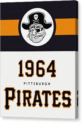 Pittsburgh Pirates 1964 Media Guide Canvas Print by Big 88 Artworks