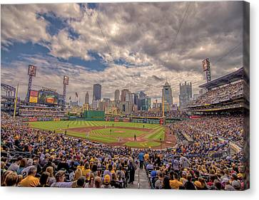 Pittsburgh Pirates Canvas Print - Pittsburgh Pirates 1a Pnc Park by David Haskett