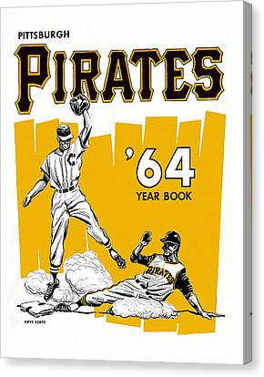 Pittsburgh Pirates 64 Yearbook Canvas Print by Big 88 Artworks