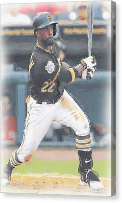 Pittsburgh Pirates Andrew Mccutchen 3 Canvas Print by Joe Hamilton