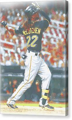Pittsburgh Pirates Andrew Mccutchen 5 Canvas Print by Joe Hamilton
