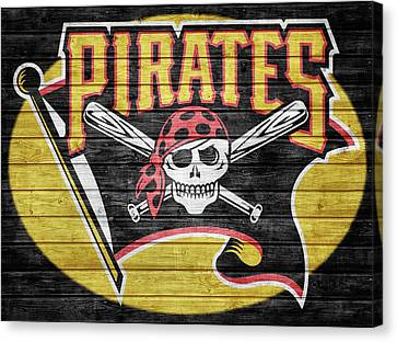 Pittsburgh Pirates Barn Door Canvas Print by Dan Sproul