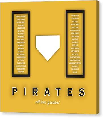 Pittsburgh Pirates Art - Mlb Baseball Wall Print Canvas Print by Damon Gray