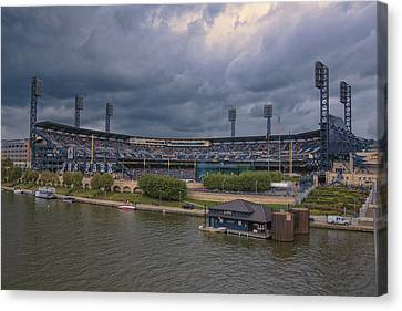 Pittsburgh Pirates Canvas Print - Pittsburgh Pirates Pnc Park B by David Haskett