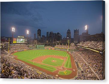 Pittsburgh Pirates Canvas Print - Pittsburgh Pirates Pnc Park X2 by David Haskett