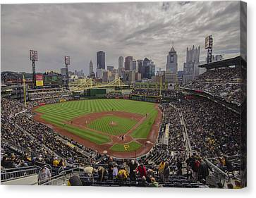 Pittsburgh Pirates Canvas Print - Pittsburgh Pirates Pnc Park X4 by David Haskett