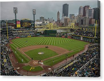 Pittsburgh Pirates Canvas Print - Pittsburgh Pirates Pnc Park X5 by David Haskett
