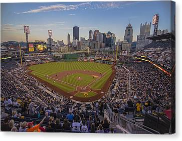 Pittsburgh Pirates Pnc Park X6 Canvas Print by David Haskett