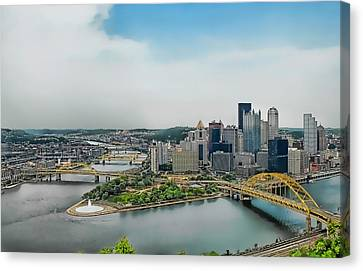 Pittsburgh Skyline Canvas Print by Dyle   Warren