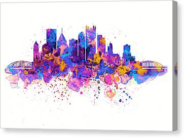 Pittsburgh Skyline Canvas Print by Marian Voicu