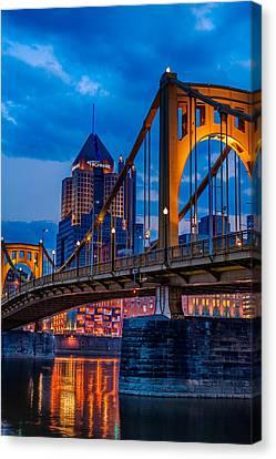 Pittsburgh Skyline Canvas Print by Steven Maxx