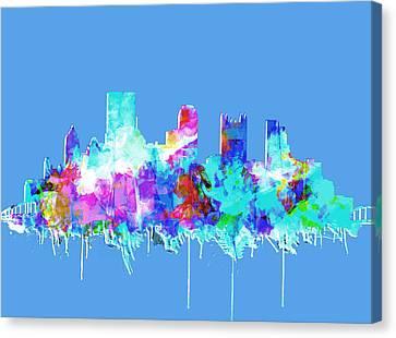 Pittsburgh Skyline Waterolor 2 Canvas Print