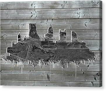 Pittsburgh Skyline Wood Canvas Print