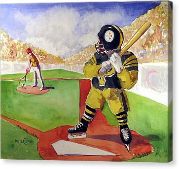Pittsburgh Sports Dream Canvas Print by Will White