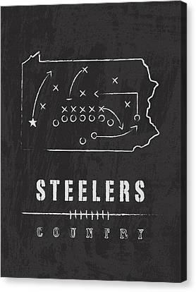 Pittsburgh Steelers Art - Nfl Football Wall Print Canvas Print by Damon Gray