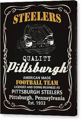 Pittsburgh Steelers Whiskey Canvas Print by Joe Hamilton