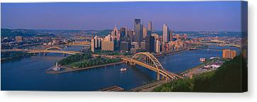 Pittsburgh,pennsylvania Skyline Canvas Print by Panoramic Images